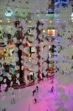 Pista di pattinaggio sul ghiaccio al centro commerciale di Al Ain, UAE Fotografia Stock Libera da Diritti
