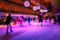 Pista di pattinaggio di pattinaggio sul ghiaccio di Gand immagini stock