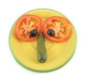Pista divertida de la ensalada Foto de archivo libre de regalías