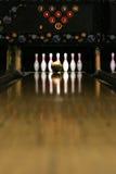 Pista do bowling - momento dourado Imagem de Stock Royalty Free
