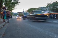 Pista do ` do carro D, feira automóvel clássica Imagens de Stock