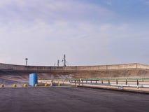Pista do carro na parte superior da construção de Lingotto em Turin Itália Imagens de Stock