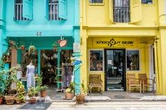 PISTA DO HAJI, SINGAPURA 22 DE SETEMBRO: Haji Lane, ele ` s no Kampon Fotos de Stock Royalty Free