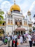 PISTA DO HAJI, SINGAPURA 22 DE SETEMBRO: A opinião da rua de preservou o seu Imagens de Stock