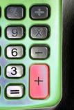 Pista dominante de la calculadora imagenes de archivo
