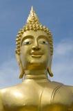 Pista dorada de Buddha Foto de archivo libre de regalías