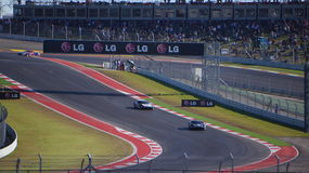 Pista dos Americas Austin, Texas Ferrari na primeira jornada da trilha fotografia de stock