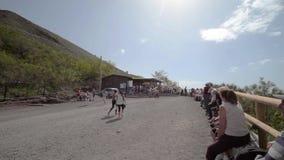 Pista el monte Vesubio almacen de video