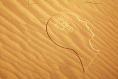 Pista en la arena Fotos de archivo