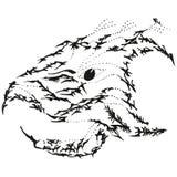 Pista estilizada abstracta del grifo del águila de B&W Fotografía de archivo