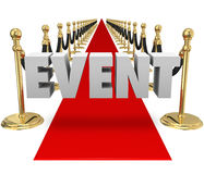 Pista exclusiva del evento del VIP de la alfombra roja de la palabra del evento Foto de archivo libre de regalías