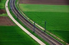 Pista ferroviaria fotografía de archivo libre de regalías