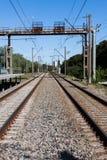 Pista ferroviaria della strada di guida Immagini Stock Libere da Diritti