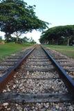Pista ferroviaria en perspectiva Fotos de archivo libres de regalías