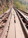 Pista ferroviaria tailandesa Fotos de archivo