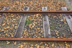 Pista ferroviaria vieja Imagen de archivo libre de regalías