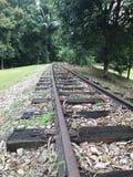 Pista ferroviaria vieja Fotos de archivo libres de regalías