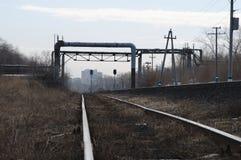 Pista ferroviaria vieja Imagenes de archivo