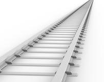 Pista infinita del treno Fotografia Stock Libera da Diritti