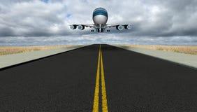 Pista Jet Travel Vacation del aeropuerto Imágenes de archivo libres de regalías