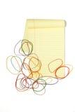 Pista legal con los rubberbands Imagen de archivo