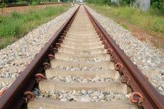 Pista lunga del treno Immagini Stock