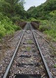 Pista métrica del ferrocarril Imágenes de archivo libres de regalías