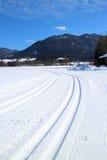 Pista nella neve Immagine Stock