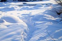 Pista no campo de neve Fotografia de Stock