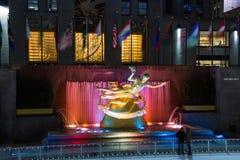A pista no centro de Rockefeller Fotos de Stock Royalty Free