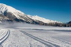 Pista nordica dello sci Immagine Stock