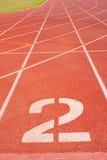 Pista numero due di atletismo. Fotografia Stock Libera da Diritti