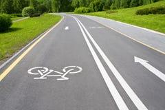 Pista para bicicletas gris Fotografía de archivo libre de regalías