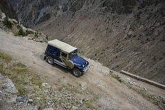 Pista peligrosa del jeep foto de archivo