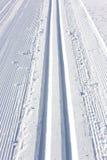 Pista del esquí del invierno Fotografía de archivo