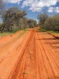 Pista roja de Sandy Fotografía de archivo libre de regalías