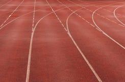 Pista roja del sprint Fotos de archivo libres de regalías