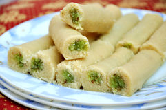 Pista Roll-1. Delicious, fresh, unique and healthy pistachio halwa, famous in Pakistan & India royalty free stock photos