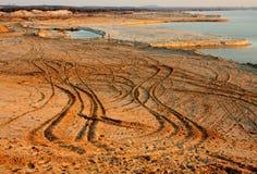 Pista in sabbia Fotografia Stock
