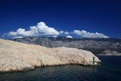Pista seca rocosa Fotos de archivo libres de regalías