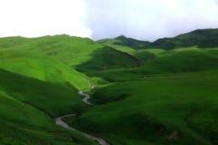 Pista verde Fotos de archivo