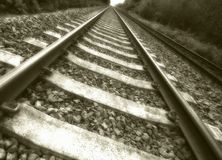 Pista vieja del tren Fotografía de archivo libre de regalías