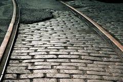 Pista vieja del tren Fotografía de archivo