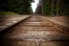 Pista vieja del tren Fotos de archivo libres de regalías