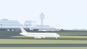 Pista y Aeropuerto-vector Imagen de archivo libre de regalías
