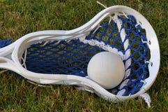 Pista y bola del lacrosse Imágenes de archivo libres de regalías