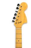 Pista y cuello de una guitarra eléctrica. Fotos de archivo