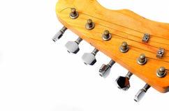 Pista y cuello de una guitarra eléctrica Imágenes de archivo libres de regalías