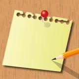 Pista y lápiz de nota Fotografía de archivo