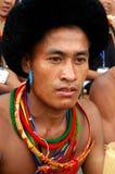Pista y población de la Nagaland-India. Imágenes de archivo libres de regalías